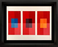 Josef ALBERS Original SILKSCREEN [XIV-2] LTD Ed. Color Study +Custom FRAMING