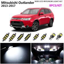 8Pcs Cool White 6K Interior Light Kit LED Fit For 2013-2017 Mitsubishi Outlander