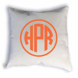 Circle Monogram Pillow