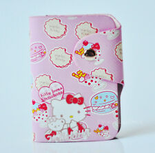 Cute Pink For Hello Kitty PU Leather Credit Card Membership Card Holder Bag Case