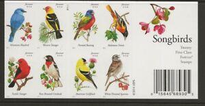 2014 Forever Songbirds full Booklet of 20 Scott #4891b, Mint NH