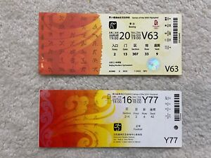 2008 Beijing Olympic Football and Boxing Tickets