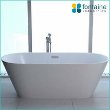 Monroe Free Standing Bath Tub Bathtub White Round Elegant Bathroom 1700 SALE NEW