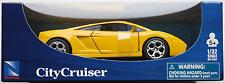 NEWRAY-Lamborghini Gallardo jaune 1:32/Piste 1 NOUVEAU/Neuf dans sa boîte voiture miniature