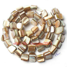 8-10mm Natural White Shell MOP Freeform Shape Gemstone Loose Beads Strand 15""