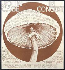 """John Cage (Composer): """"John Cage in Concert"""" - Original Flyer"""