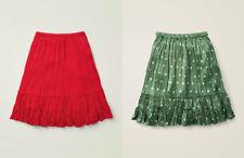 BNWT Mini Boden tiered ruffle Midi Skirt 5-16 years Red Green Hearts
