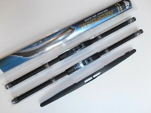 """Audi A3 2004 to 2013 TRICO Front and Rear Wiper Blades 24""""x19""""x13"""""""