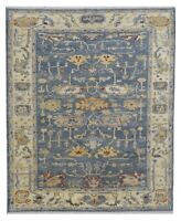 "Hand Knotted Grey Blue Oushak Wool Tribal New Oriental Rug 8'2"" x 10'"