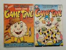 IT'S GAME TIME #1 & #3 lot (1955 1956) DC COMICS, Low Grade DAVY CROCKETT *LOOK*