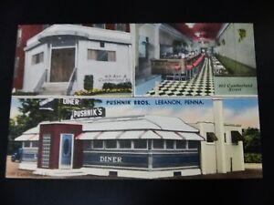 PA Diner Cafe Linen Restaurant Ad Car Trailer Food Pushnik Bar NOS Pennsylvania