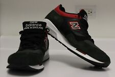 NEW BALANCE M1500RGR MADE IN ENGLAND MENS BLACK GREEN RED SNEAKERS 10.5
