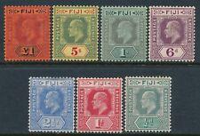 1906-1912 FIJI DEFINITIVES SET OF 7 MINT LIGHT HINGE SG118-SG124 KING EDWARD VII