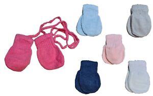 Unisex Newborn Baby Autumn Winter Mittens With String Gloves Size 0-12 Months