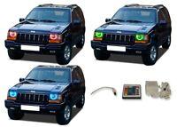 for Jeep Grand Cherokee 93-98 RGB Multi Color IR LED Halo kit for Headlights