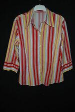 NEUw. ZAGORA stretchige Bluse Stretchbluse 3/4-Arm 44 46 L XL STREIFEN!