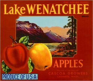 Cashmere Lake Wenatchee 2 Apple Fruit Crate Label Print