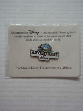 New On Card / Package 2006 ADVENTURES BY DISNEY LOGO Cast Member Promotional Pin