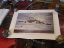 BLUE FIRE BY MICHAEL RONDOT LMT ED LITHOGRAPH MILITARY AIRCRAFT