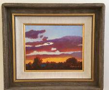"Original Landscape on Canvas by Lynda Berdin Framed 20 X 23 ""The Horizon""Signed"
