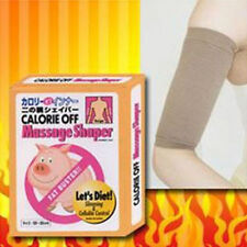 Fat Buster Calorie Off Massage Slimming Tapping ARM SHAPER-Beige-1 Pair