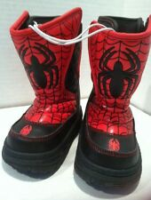 Spiderman Toddler Rain and Snow Boots  size 5/6. Heals Light Up when Walking.