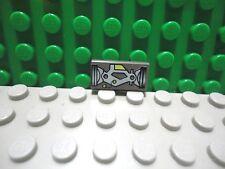 Lego 1 Old Classic Dark Gray 1x2 printed tile Ufo