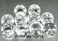 WHITE TOPAZ 1 MM ROUND CUT 50 PIECE MATCHED SET ALL NATURAL AAA 1X50