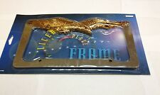 EAGLE CHROME/GOLD METAL LICENSE PLATE FRAME  LPF-476C/G
