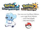 Pokemon Ultra Sun and Moon Helpful Cubchoo Japan Event Pokemon Cubchoo