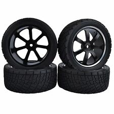 80mm Diameter RC 1:10 On-Road Rally Car Tyres Tires Metal Wheel HPI-WR8 HSP94177