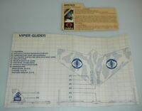 Lot 1983 GI Joe Cobra Viper Glider Pilot v1 File Card & Blueprints Accessory Set