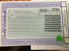 """Microscale """"O"""" scale 48-262 Conrail Quality diesels decals 1992+"""