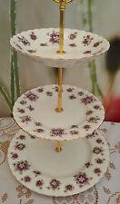 "Royal Albert ""Sweet Violets"" Medium size 3-tier cake stand"