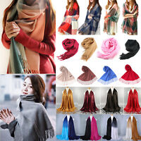 Women Winter Warm Soft Neck Scarf Cashmere Wrap Wool Shawl Stole Pashmina Scarf