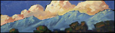 HAWKINS Mountain Clouds Impressionism Original Landscape Art Oil Painting Signed