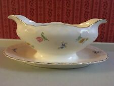 Vintage Pope Gosser Sterling Cream Gravy Boat with Attach Dish Flowers $29.99