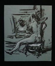 PETER COLLINS ARCA (1923 - 2001) FEMALE NUDE INDIA INK LIFE DRAWING c.1970