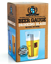 New Bar Beer Gauge Drinking Glass Gift Mens Dads Father