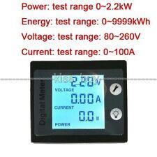 AC 100A Digital LED Wechselstromzähler Stromzähler Power Voltmeter Amperemeter