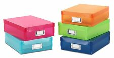 5 Color Storage Organize Box Container Plastic Case Paper Station Tool Office In