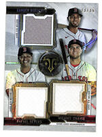 2020 Topps Triple Threads Red Sox 33/36 Bogaerts Devers Chavis jersey patch card