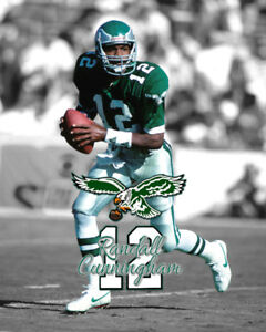 Philadelphia Eagles RANDALL CUNNINGHAM Unsigned Spotlight Photo 8x10 #1