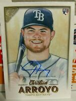 2018 TOPPS GALLERY AUTOGRAPH ROOKIE CARD OF CHRISTIAN ARROYO NO. 54