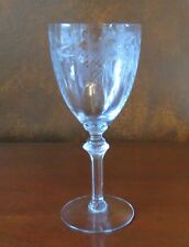 Fry 7553-3 Floral & Lattice Cut Rib Optic Clear Water Goblet(s)