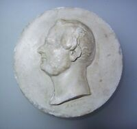 Antique 19th Century Carved Portrait Bas Relief