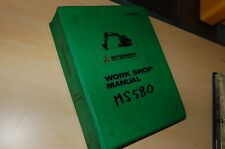 Mitsubishi MS580 Trackhoe Crawler Excavator Repair Shop Service Manual overhaul