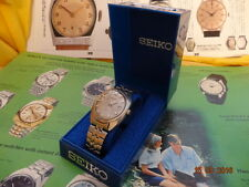 VNTG SEIKO DATE CUSHION 39mm SILVER DIAL 6602 8040 17J 3/'68 ORGNL BOX SERVICED