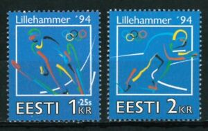 ESTONIA OLD STAMPS 1994 - Winter Olympic Games - Lillehammer, Norway - MNH