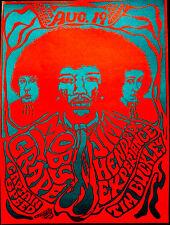 JIMI HENDRIX / MOBY GRAPE 1967 PSYCHEDELIC, CA 2ND PRINTING - ORIGINAL SCARCE